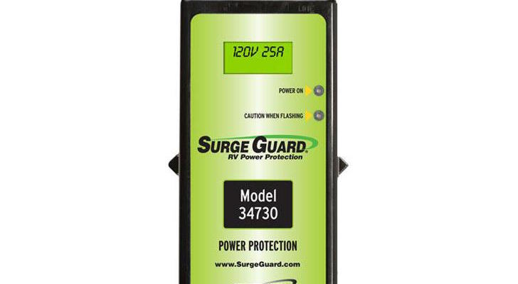 Portable 30 Amp Surge Guard With LCD Display