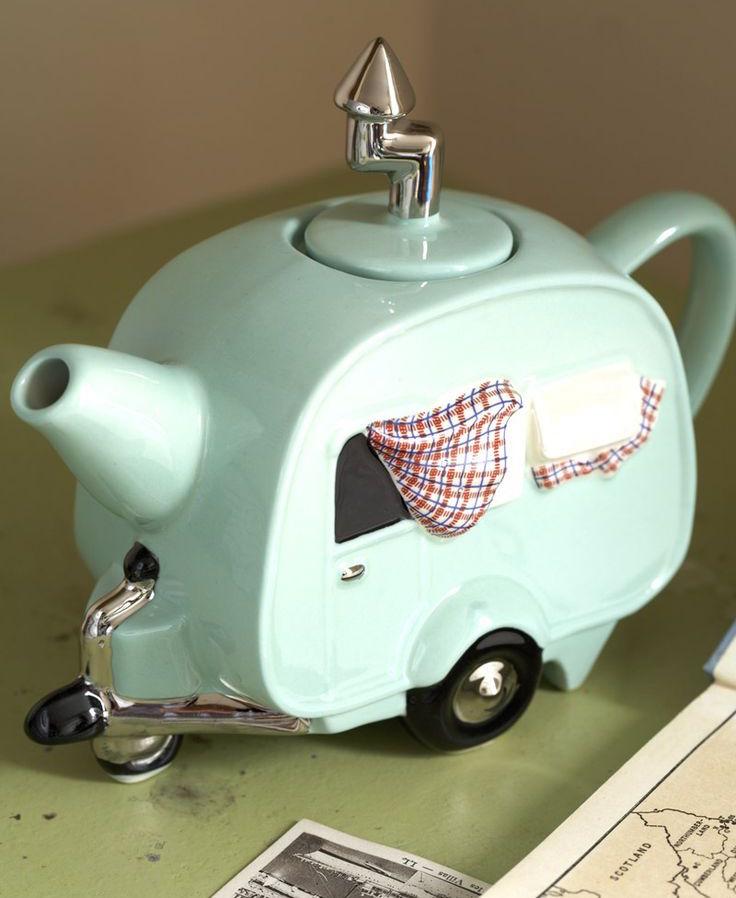 Handmade British Caravan Teapot
