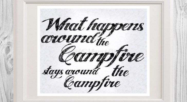 Funny Camping Saying Instant Downloadable Print