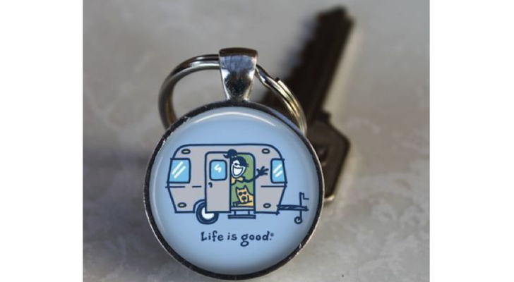 Life Is Good Key Ring