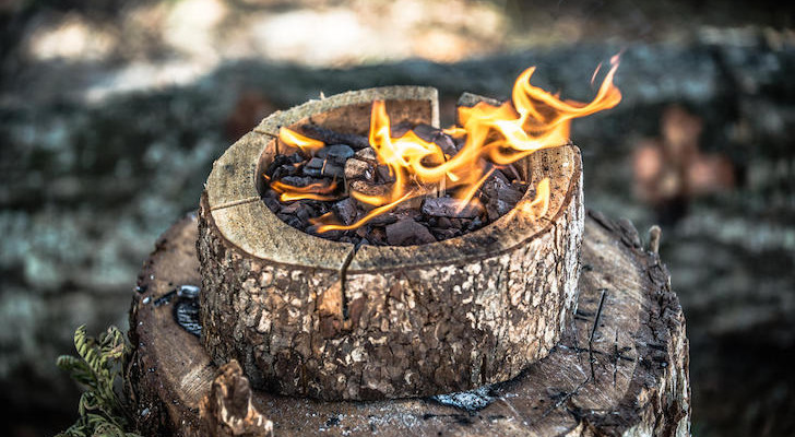 Burnie Self-Cleaning, Portable Campfire