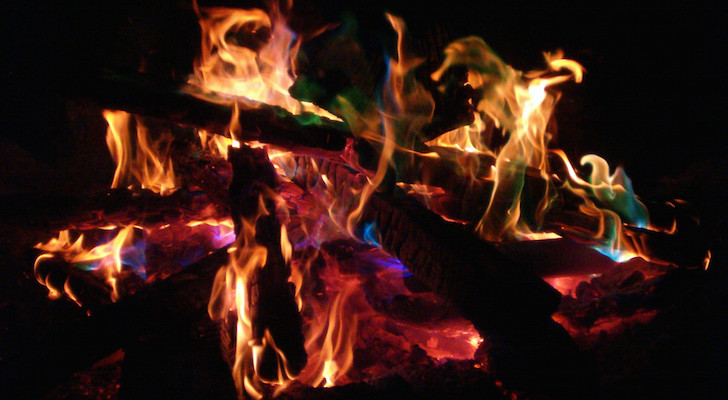 Mystical Fire Campfire Coloring Packets