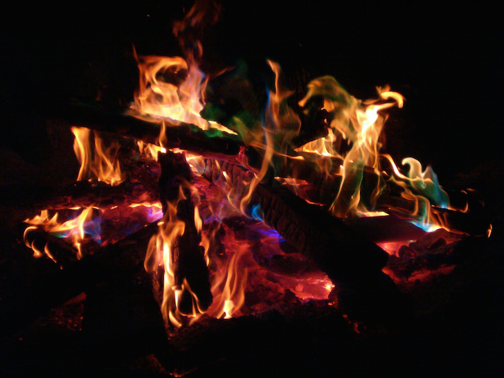 Campfire coloring packets