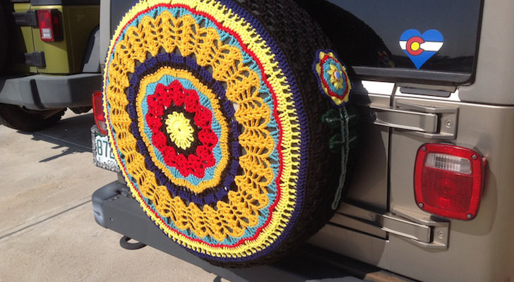 Crochet tire cover