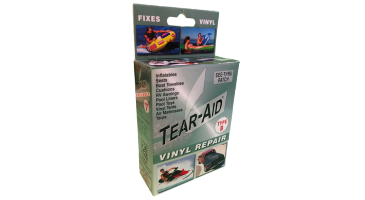 One Step Permanent Vinyl Repairs With Transparent Tear Aid Vinyl Repair Patches