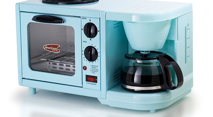 3-In-1 Breakfast Center With Coffee Maker, Grill, And Toaster